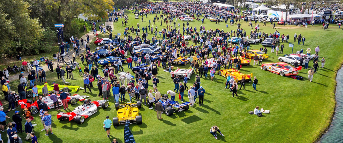Amelia Island Concours aerial view. PFS Simple Lease for Classic Cars