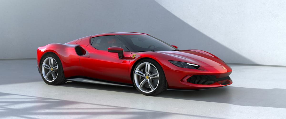Red Ferrari 296GTB right front - Ferrari Financing
