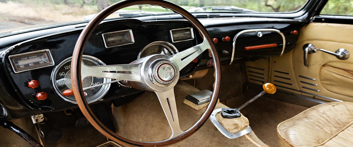1956 Maserati A6G/54 barn find interior. Maserati Loan
