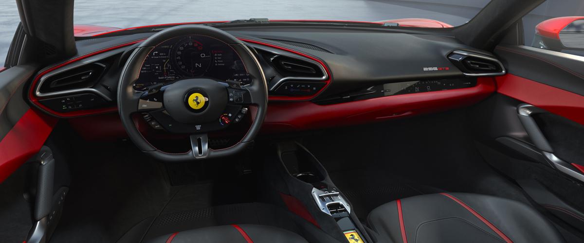 Red Ferrari 296GTB interior - PFS Simple Lease