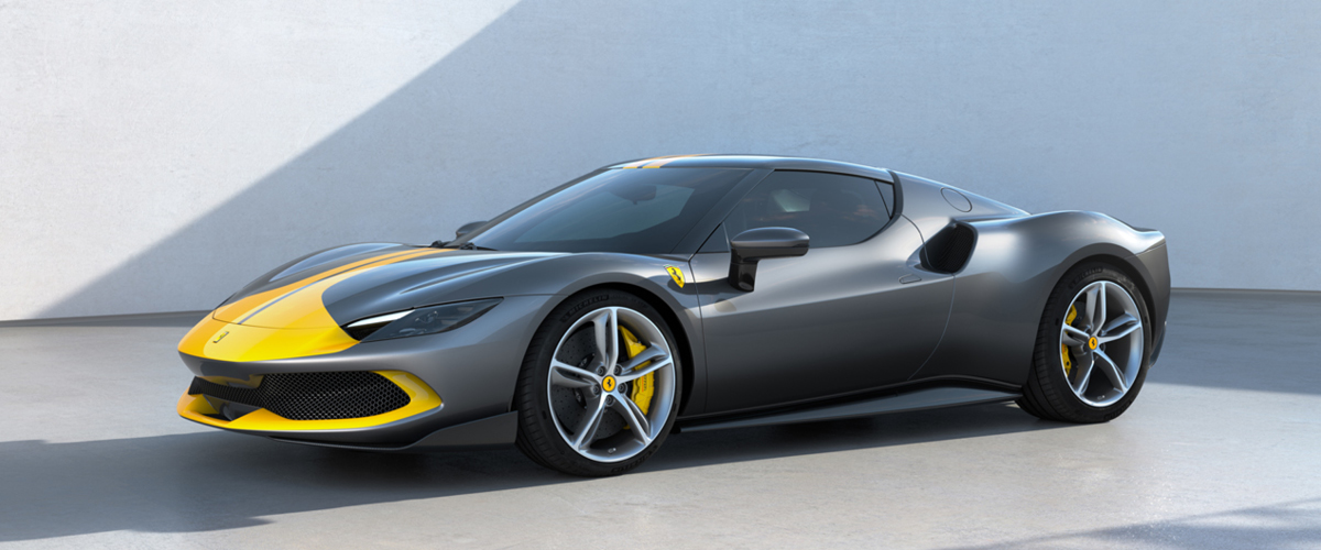 Space Age Grey and Yellow Ferrari 296GTB with Assetto Fiorano package - Ferrari Lease