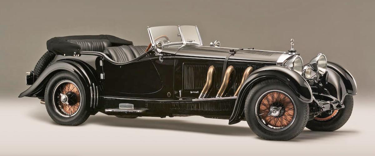Black 1928 Mercedes Tourer