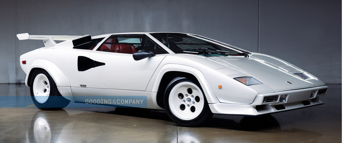 White 1984  Lamborghini Countach front right