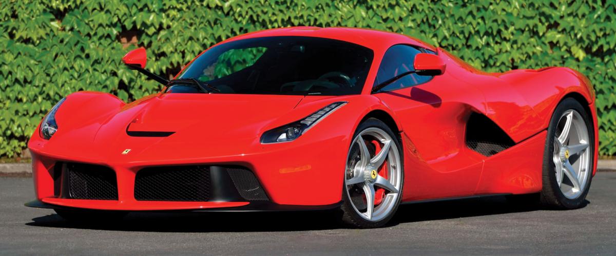 Red La Ferrari front left