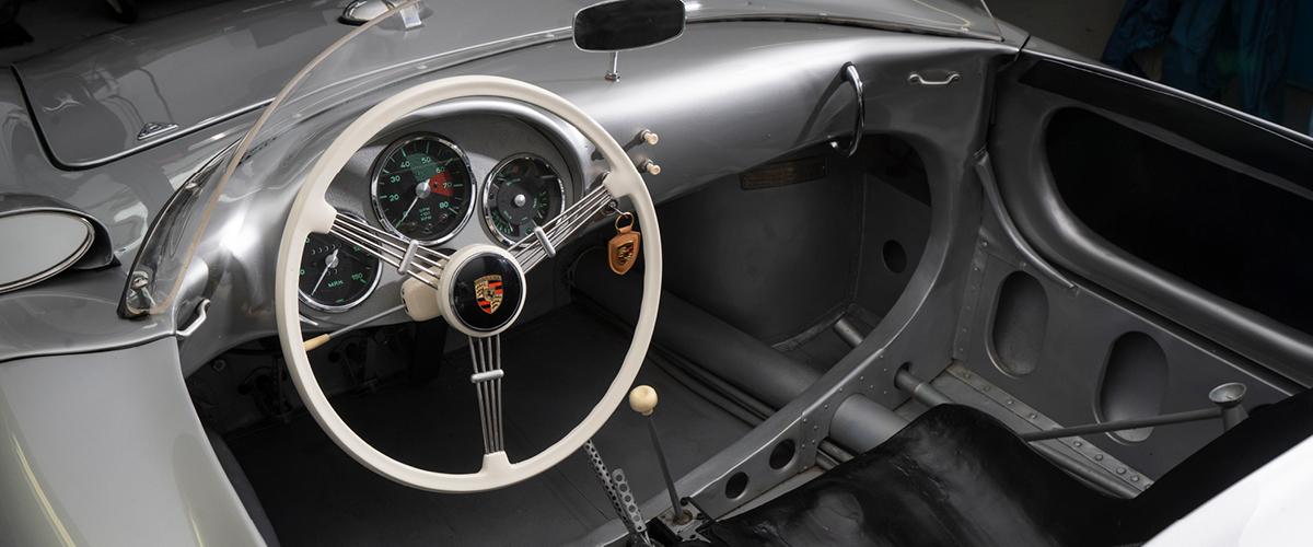 1955 Porsche 550 Spyder interior. #pfs_leasing