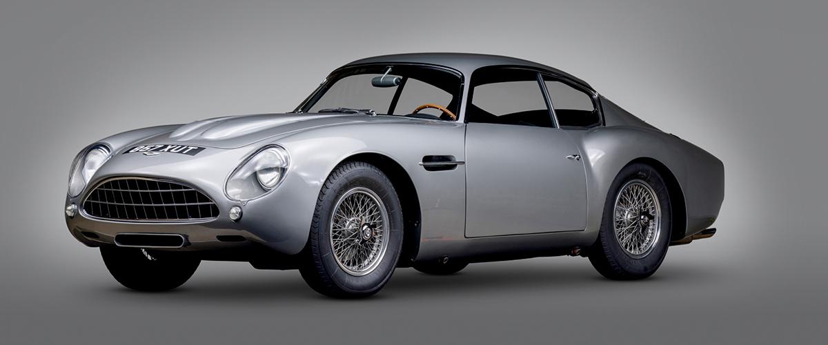 1962 Silver Aston Martin DB4GT Zagato studio photo