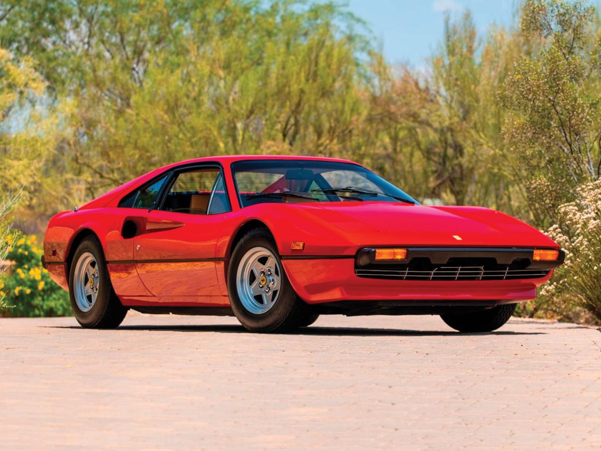 Red Ferrari 308 GTB front view. Finance a Ferrari