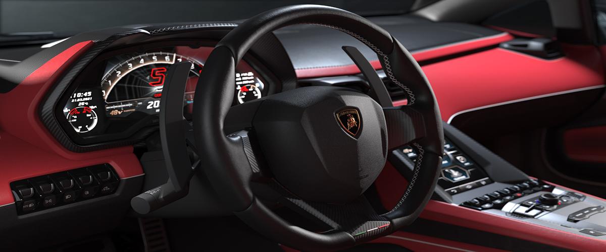 New Lamborghini Countach Dashboard View