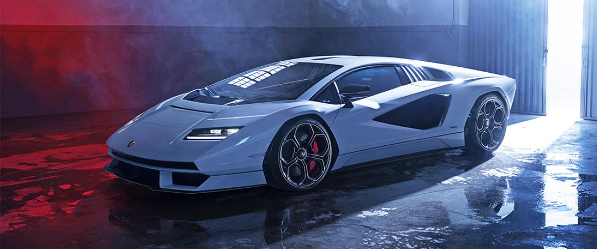 New Lamborghini Countach Left Side View