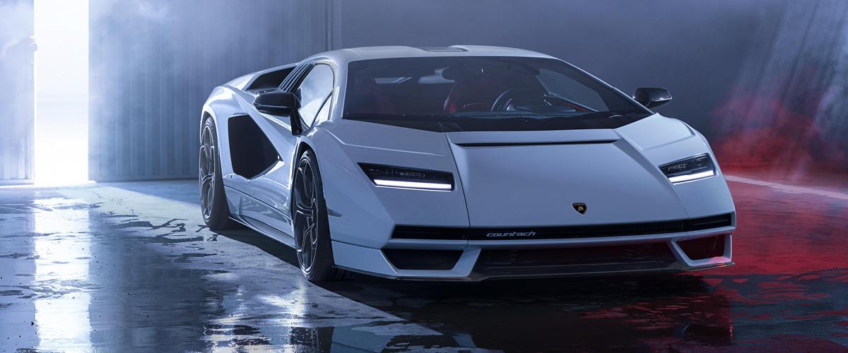 New Lamborghini Countach Right Front View