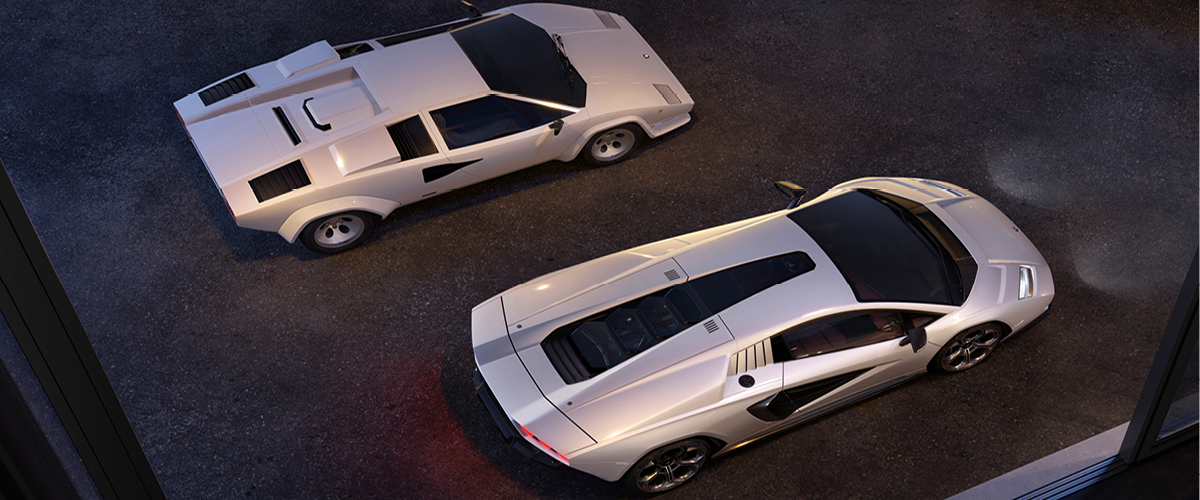 New Lamborghini Countach With 1971 Countach Prototype With 1980s Qv5000